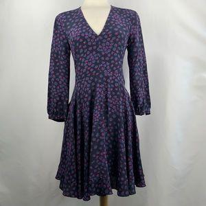 Blue Print Rebecca Taylor Long Sleeve Dress